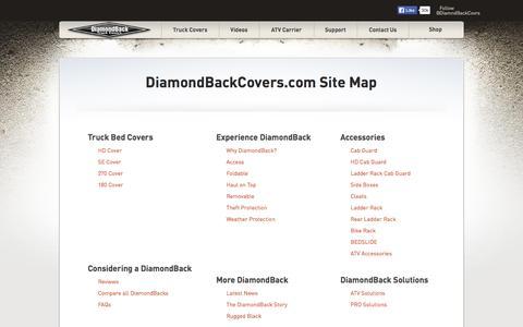 Screenshot of Site Map Page diamondbackcovers.com - Site Map : DiamondBack Truck Covers - captured Nov. 14, 2015