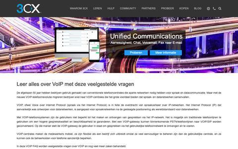 Screenshot of FAQ Page 3cx.nl - IP Telefooncentrale, VOIP info / FAQ - captured Oct. 22, 2018