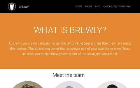 Screenshot of About Page brewly.co.uk - About Us – Brewly beer - captured Feb. 8, 2016