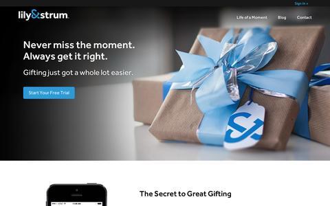 Screenshot of Home Page lilyandstrum.com - Lily&Strum | Never Miss the Moment. Always Get It Right. - captured Sept. 10, 2014