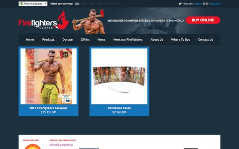 Screenshot of Products Page firefighterscalendar.com.au - New Products : Firefighters Calendar - Events, Calendars, Merchandise - captured Jan. 25, 2017