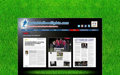 Screenshot of Press Page portablefloodlights.com - NEWS - portablefloodlights.com - captured Oct. 3, 2014