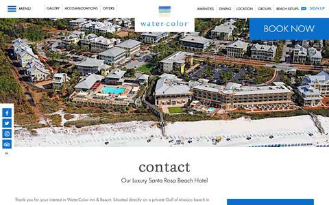 Screenshot of Contact Page watercolorresort.com - Santa Rosa Beach FL Hotels | WaterColor Inn & Resort - captured Oct. 3, 2018