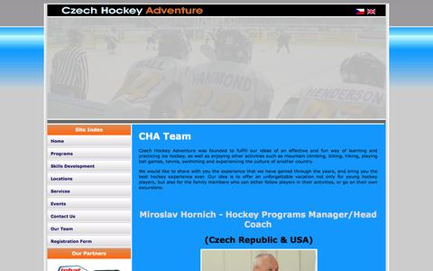 Screenshot of Team Page hockeyadventure.cz - Czech Hockey Adventure - captured June 14, 2016