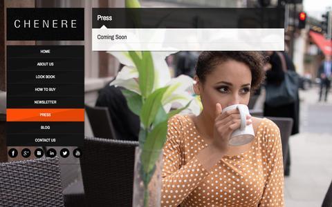 Screenshot of Press Page chenere.com - Press | chenere.com - captured Sept. 26, 2014