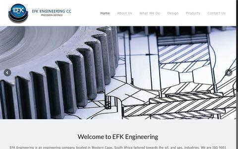 Screenshot of Home Page efk-engineering.com - EFK Engineering – We offer a wide range of engineering services and products to meet your every need. - captured July 9, 2017