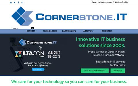 Screenshot of Home Page cornerstone.it - IT Business Solutions Provider   Cornerstone.IT - captured July 20, 2019