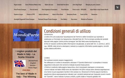 Screenshot of Terms Page mondoporte.org - Condizioni generali di utilizzo  - Porte Finestre Roma Prezzi Infissi - captured Oct. 7, 2014