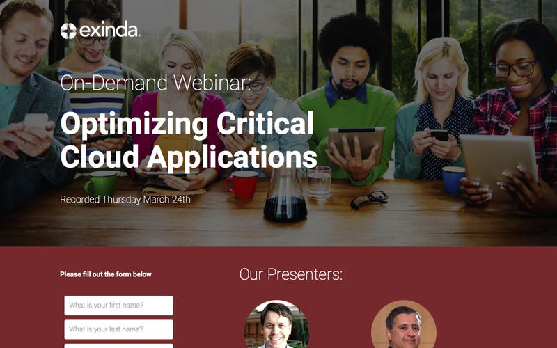 Optimizing Critical Cloud Applications | Exinda