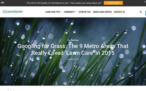 Screenshot of Blog lawnstarter.com - Lawnstarter - The LawnStarter Lawn Care Service Blog - captured Jan. 22, 2016