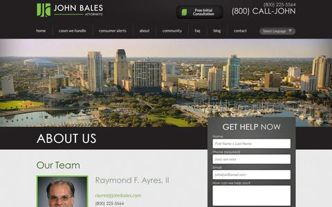 Screenshot of Team Page johnbales.com - Our Team | Tampa & Orlando Car Accident Lawyers |  John Bales Attorneys - captured Oct. 6, 2014