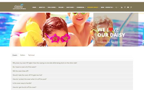 Screenshot of FAQ Page daisypoolcovers.com.au - FAQs - Daisy Pool Covers - captured Sept. 30, 2014