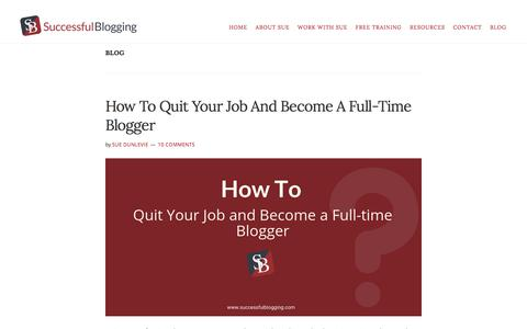 Screenshot of Blog successfulblogging.com - Blog | Successful Blogging - captured Sept. 19, 2018
