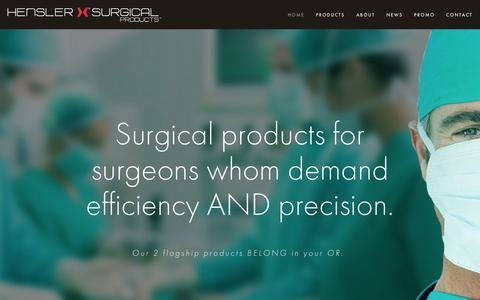 Screenshot of Home Page henslersurgical.com - Hensler Surgical - captured Jan. 28, 2016