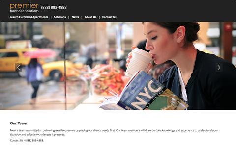Screenshot of Team Page premierny.com - Our Management Team |  Premier Furnished Solutions - captured Nov. 10, 2016