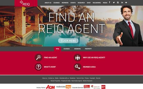Screenshot of Home Page reiq.com - Real Estate QLD | Find Rental Properties & Property for Sale with REIQ - captured Oct. 15, 2015