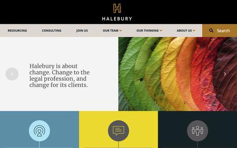 Screenshot of Home Page halebury.com - Transforming Law | Halebury - captured Nov. 4, 2018
