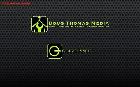 Screenshot of Home Page dougthomasmedia.com - Start - captured Sept. 30, 2014