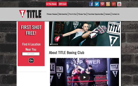 Screenshot of About Page titleboxingclub.com - TITLE Boxing Club  |  About Our Health Club | TITLE Boxing Club - captured Sept. 19, 2014