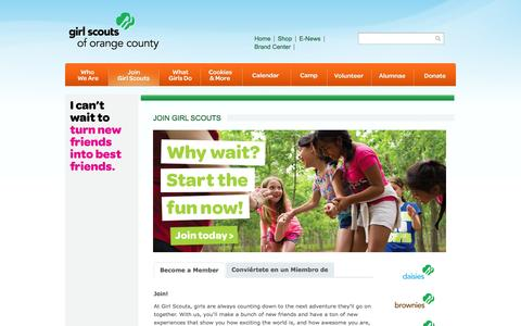 Screenshot of Signup Page girlscoutsoc.org - Join Girl Scouts   Girl Scouts of Orange County - captured Oct. 2, 2014