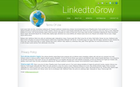 Screenshot of Privacy Page linked2grow.com - Privacy Policy - LinkedtoGrow - captured Oct. 1, 2014