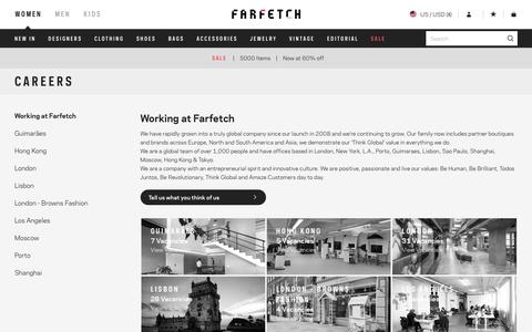 Screenshot of Jobs Page farfetch.com - farfetch.com - a new way to shop for fashion - captured Jan. 19, 2017