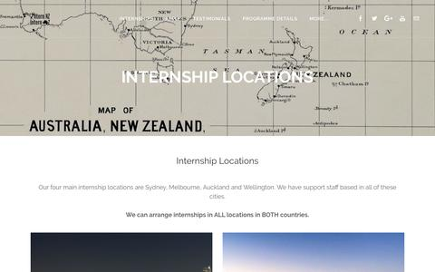 Screenshot of Locations Page internnzoz.com - Internship Locations - Intern NZ & Intern OZ - captured Oct. 15, 2017