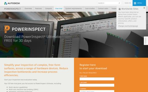 Screenshot of Trial Page autodesk.com - Download PowerInspect 2018 | Free Trial | Autodesk - captured May 15, 2017