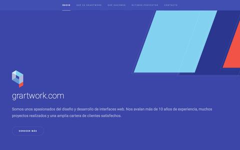 Screenshot of Home Page grartwork.com - Grartwork.com | Diseño y desarrollo UI | UX | Apps - captured Nov. 13, 2016