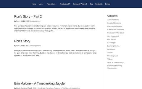 Screenshot of Blog timebanks.org - TDIblog | TimeBanks USA - captured Sept. 24, 2018