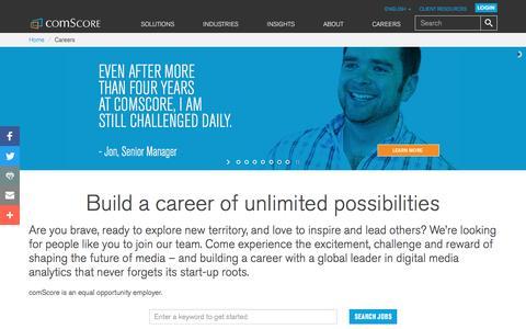 Screenshot of Jobs Page comscore.com - Careers - comScore, Inc - captured Nov. 23, 2016