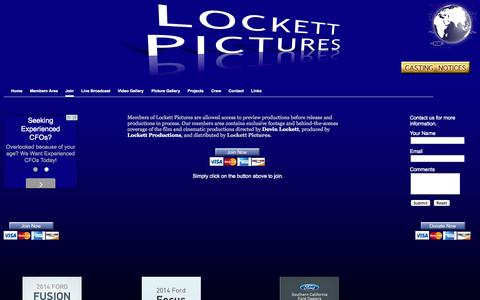 Screenshot of Signup Page lockettpictures.com - Lockett Pictures - captured Sept. 30, 2014