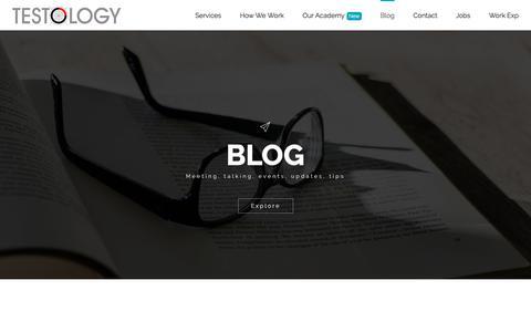 Screenshot of Blog testology.co.uk - Blog - Testology - captured May 25, 2018
