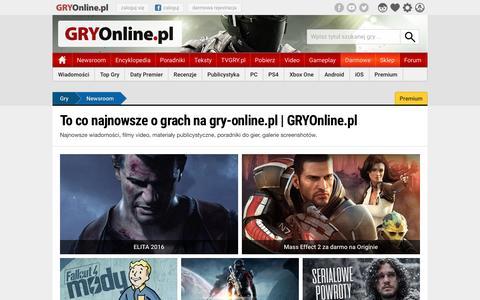 To co najnowsze o grach na gry-online.pl | GRYOnline.pl