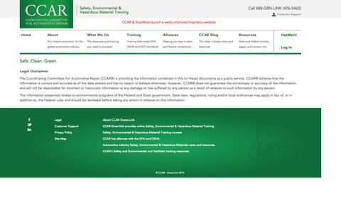 Screenshot of Terms Page ccar-greenlink.org - CCAR - captured Oct. 1, 2014