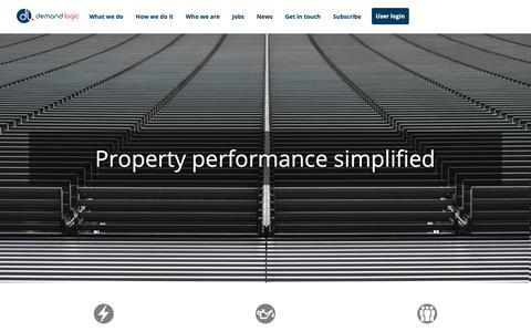 Screenshot of Home Page demandlogic.co.uk - Demand Logic Limited - captured Oct. 8, 2018
