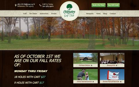 Screenshot of Home Page oakhaven.com - Oakhaven Golf Club - Delaware, OH - captured Oct. 25, 2017