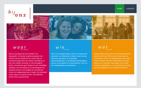 Screenshot of Home Page bijonz.nl - bijonz - captured Oct. 5, 2014