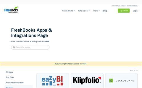 Analytics Integrations for New FreshBooks | FreshBooks