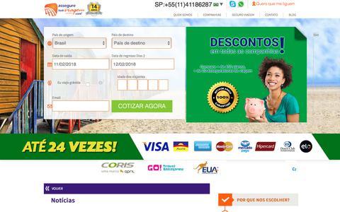 Screenshot of Blog asseguresuaviagem.com.br - Notícias - captured Feb. 11, 2018