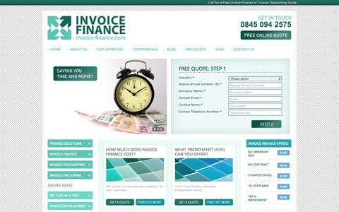 Screenshot of Home Page invoice-finance.com - Invoice Finance | Invoice Finance Quotes | Invoice Financing - captured Sept. 30, 2014