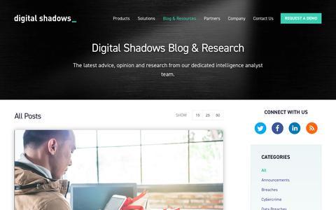 Blog   Cyber Attacks & Digital Risks   Digital Shadows   Digital Shadows