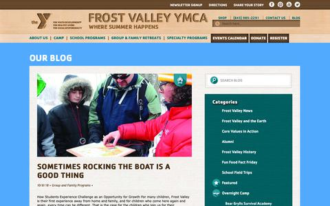 Screenshot of Blog frostvalley.org - Official Blog | Frost Valley YMCA - captured Oct. 11, 2018