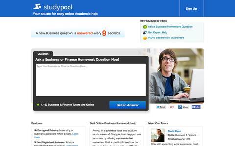 Screenshot of Team Page studypool.com - Business Homework Help - Ask a Business Question - captured Oct. 31, 2014