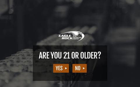 Screenshot of Privacy Page eaglerocks.com - Eagle Rock Distributing Company > Home - captured Jan. 24, 2016