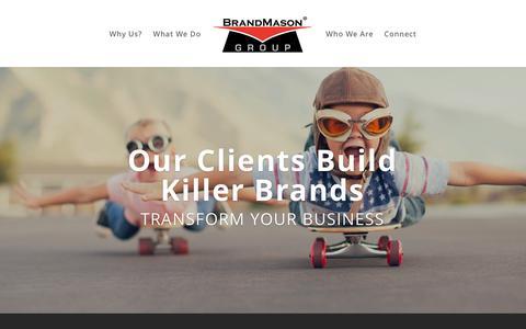 Screenshot of Home Page brandmason.com - Home   BrandMason® Group - captured Oct. 11, 2017