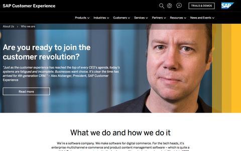 Screenshot of About Page hybris.com - Software Company   Digital Commerce   SAP Hybris - captured July 18, 2018