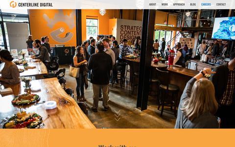 Screenshot of Jobs Page centerline.net - Work with us - Centerline Digital - captured June 22, 2017