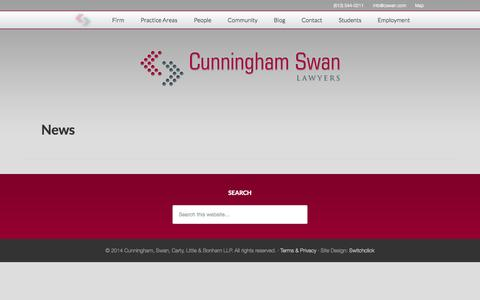Screenshot of Press Page cswan.com - News - captured Oct. 3, 2014