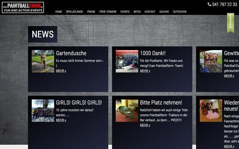Screenshot of Press Page paintballfarm.ch - pages.news.title - captured March 27, 2017